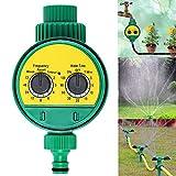 BESEN Regulador de riego de jardín, temporizador de riego automático, control de riego con batería, presión de agua ajustable, para jardines, verduras, césped y granjas