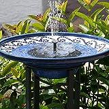 Fuente Solar,TekHome Bomba de Agua Solar, Bomba Solar Para Estanque,Fuente Solar Flotante para Jardin, Fuentes de Agua Decorativas Exterior, Bomba de Agua para Piscina/Estanque.